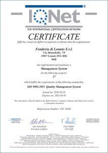 Certificato IQ NET_GB_iq_9001_18