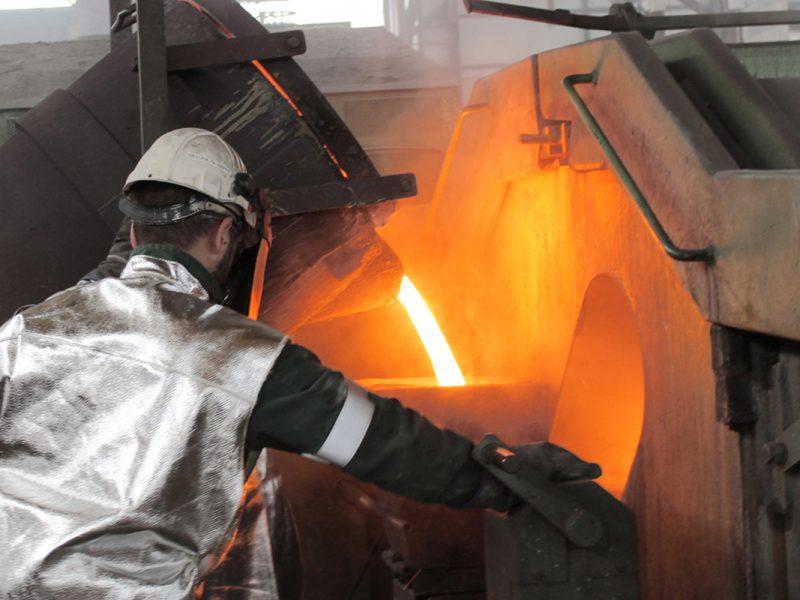 spillamento metallo nel reparto centrifughe
